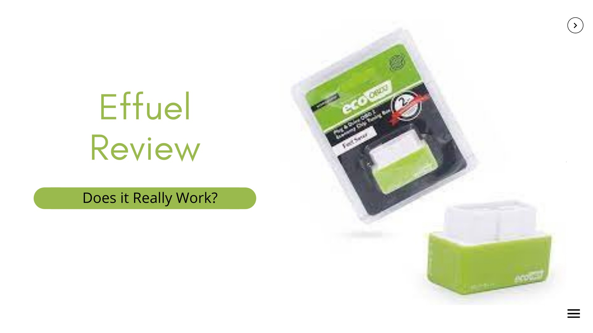Effuel Customer Reviews; What is it?